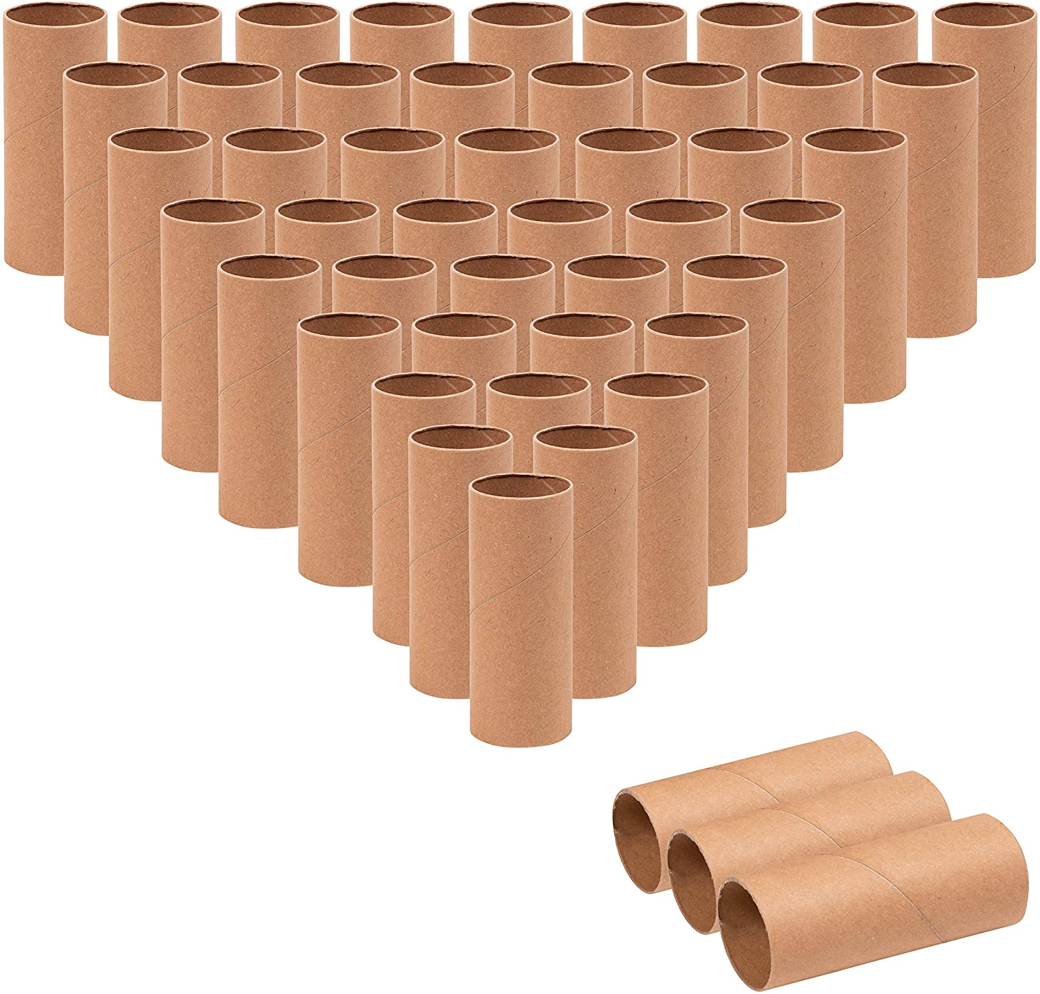 Animals Come with 100 Sheets Colorful Paper and 80 Pack Wiggle Eyes/ SUITUS 40 Pack 1.6X3.9 Inch Cardboard Tubes Bulk Craft Rolls Tubes Thick Paper Roll Tubes for DIY Art Craft Brown