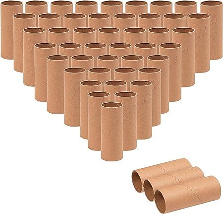 Tubos de cartón – rollos de manualidades, tubos de manualidades, rollos de cartón, tubos de papel, rollos de papel higiénico vacío, suministros de manualidades para proyectos de aula, arte DIY Craft