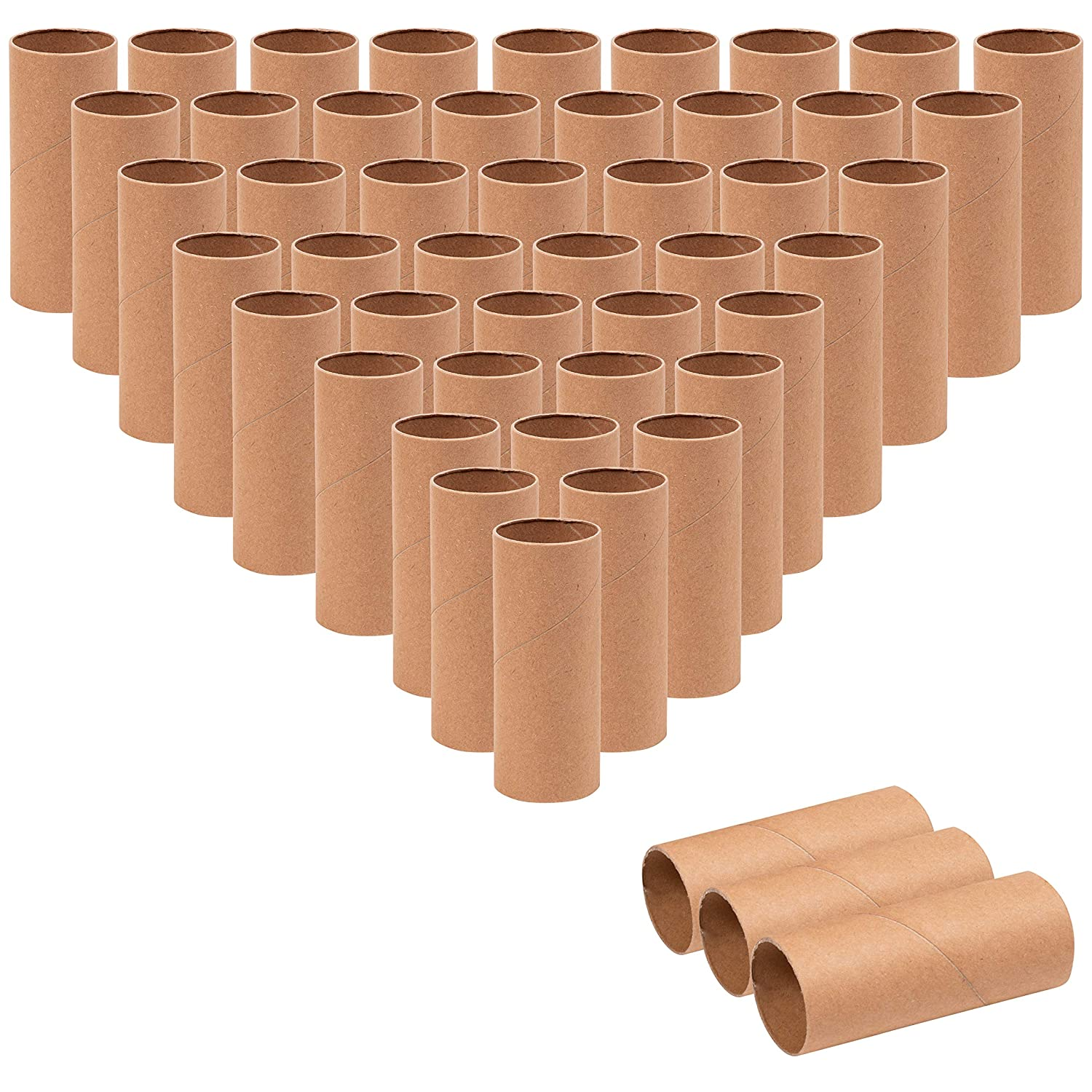 and Classroom Projects Brown 1.6 x 3.95 Inches Genie Crafts 48-Pack Cardboard Paper Tubes for Kids DIY
