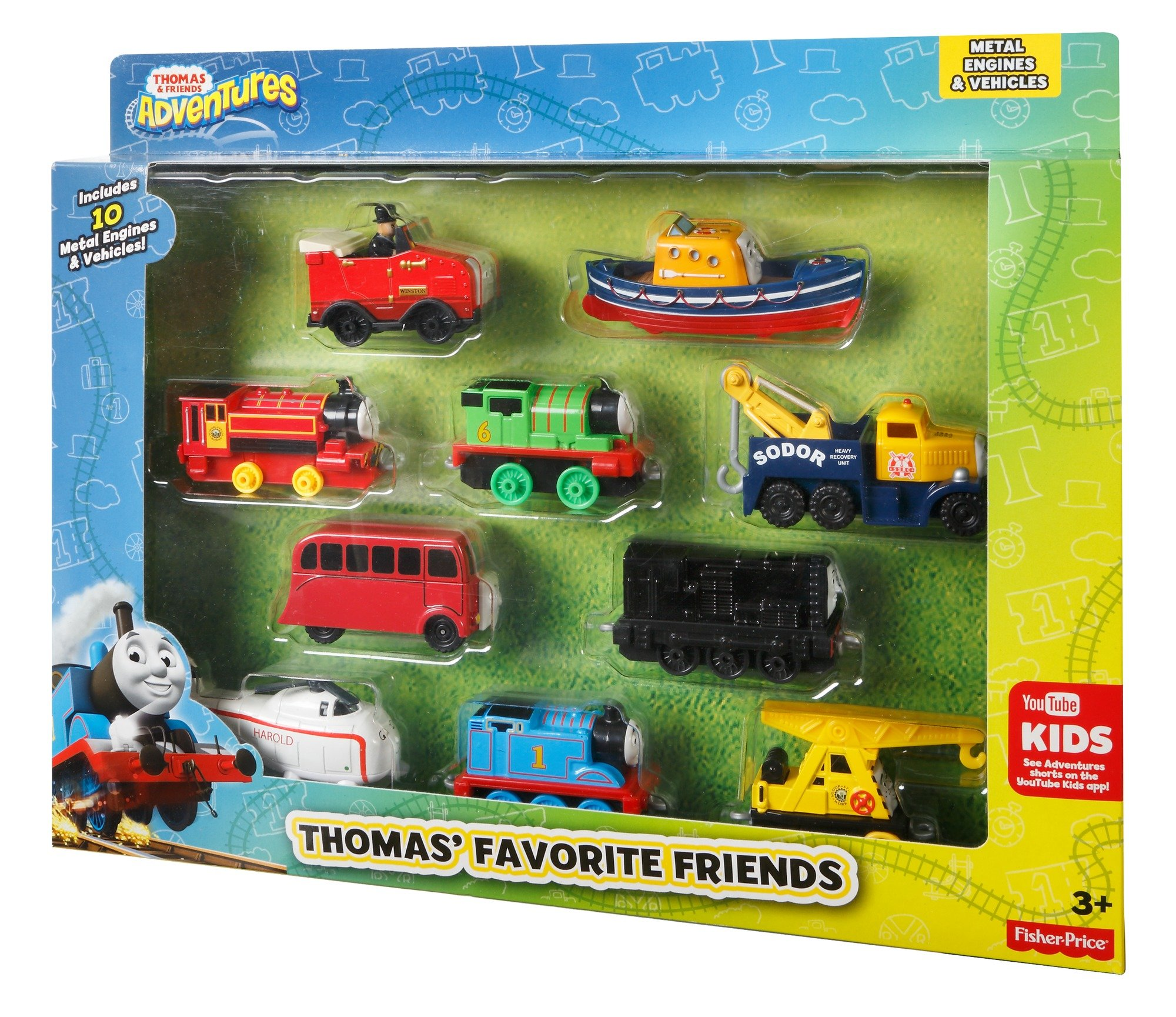 Thomas andFriends Favorite Friends Vehicle Set diecast by Thomas & Friends Adventures (Image #1)