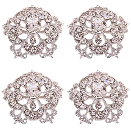 Amazon.com  SHINYTIME Crystal Rhinestone Buttons 4 Pieces Sew-On ... 8c2b3760676a