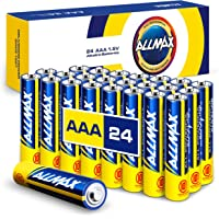 Allmax AAA Maximum Power Alkaline Batteries (24 Count) – Ultra Long-Lasting Triple A Battery, 10-Year Shelf Life, Leak…