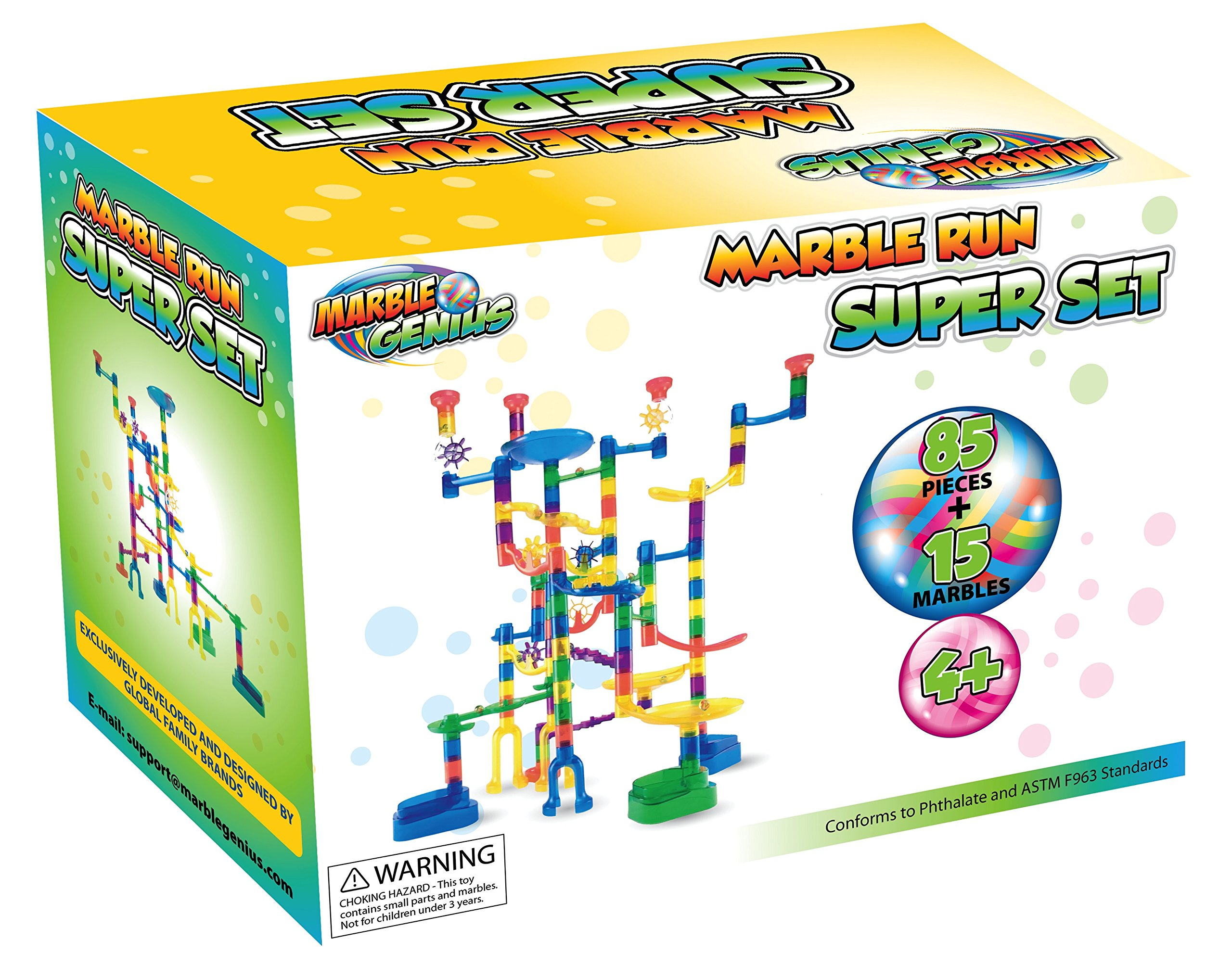 Marble Genius Marble Run Super Set 100 Complete Pieces Free Instruction App