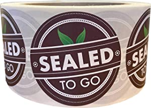 Sealed to Go Food Delivery Tamper Labels 2 Inch 500 Total Labels