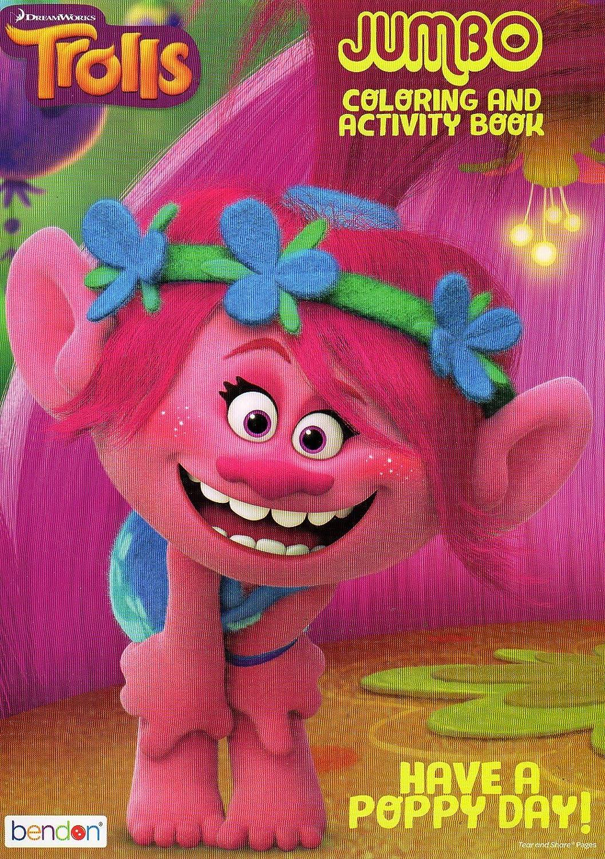 Amazon.com: Dreamworks Trolls - Jumbo Coloring and Activity Book ...