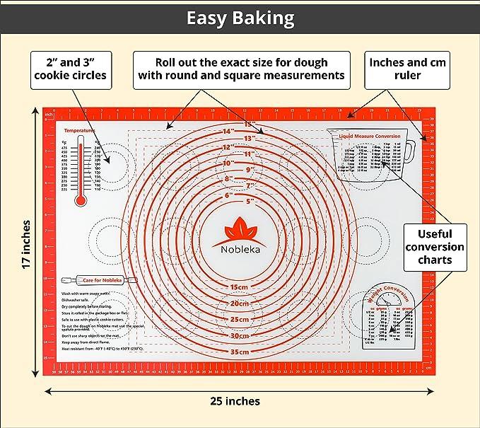 Fácil para horno con para repostería de silicona alfombrilla - más ...