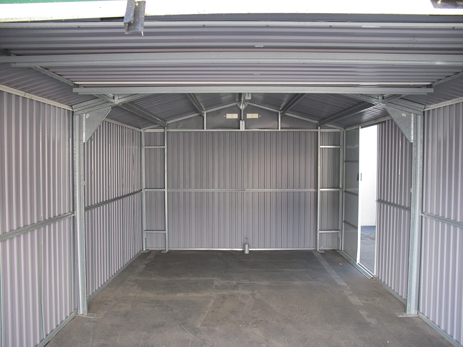 Amazon.com  Duramax 50961 Metal Garage Shed with Side Door 12 by 20-Feet  Storage Sheds  Garden u0026 Outdoor & Amazon.com : Duramax 50961 Metal Garage Shed with Side Door 12 by ...