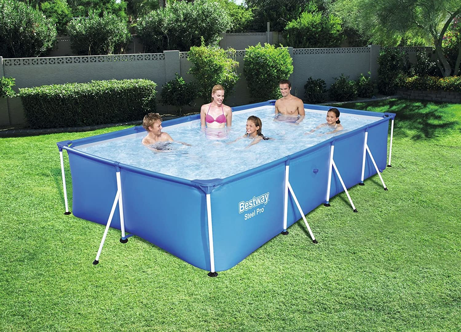 Bestway 56405 - Piscina Desmontable Tubular Infantil Bestway Family Splash Frame Pool (400 x 211 x 81 cm) Capacidad: 5.700 litros: Amazon.es: Jardín