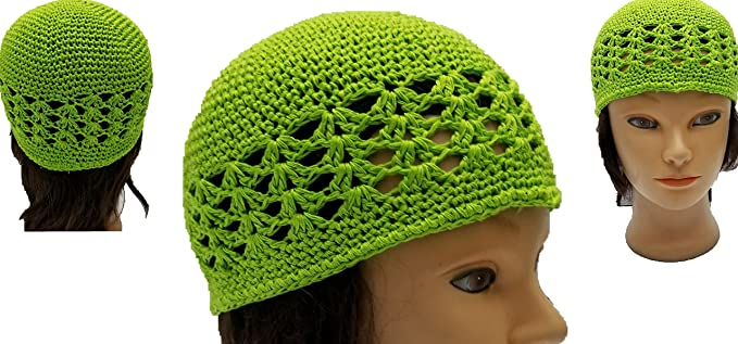 Image Unavailable. Image not available for. Color  BUNFIRE Lime Green  Threaded Skull Cap Chemo Kufi ... 9e3a14b662c3