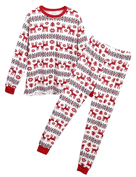 Caeasar Navidad Pijamas De Familia Ropa De Dormir Conjunto Pantalon Y Top Fiesta Manga Larga Dos