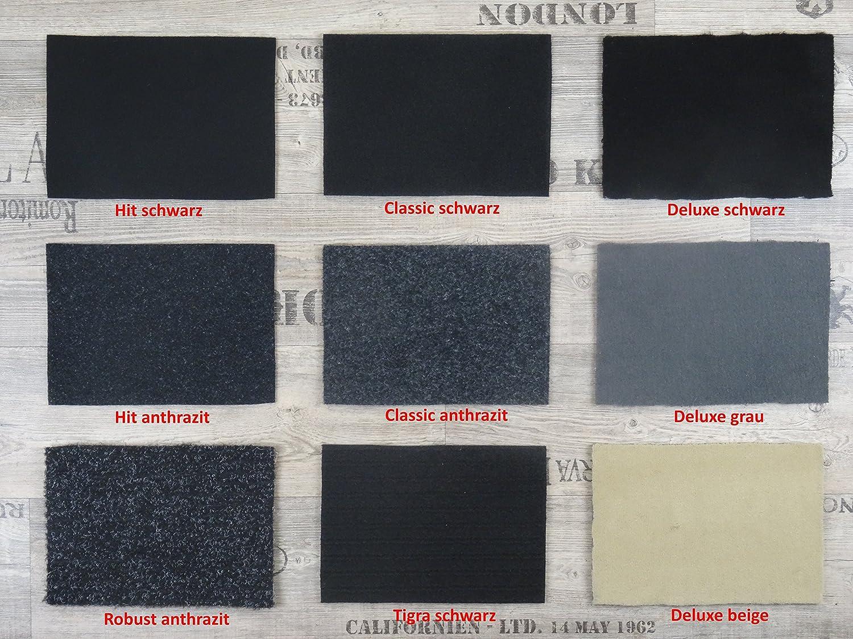 Alpha-Tex Autoteppich Meterware zur Auskleidung oder als Kofferraumteppich in beliebiger Gr/ö/ße Qualit/ät Hit schwarz 1m x 2m Breite selbst zuschneidbar
