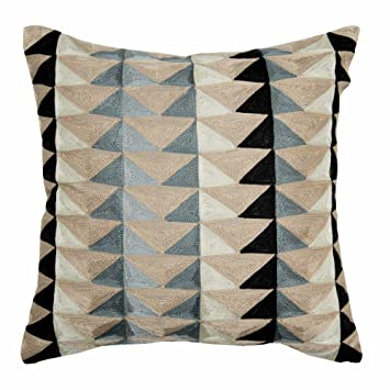 Amazon.com: Madura – Cojín (), color gris/Beige/Azul Graphic ...