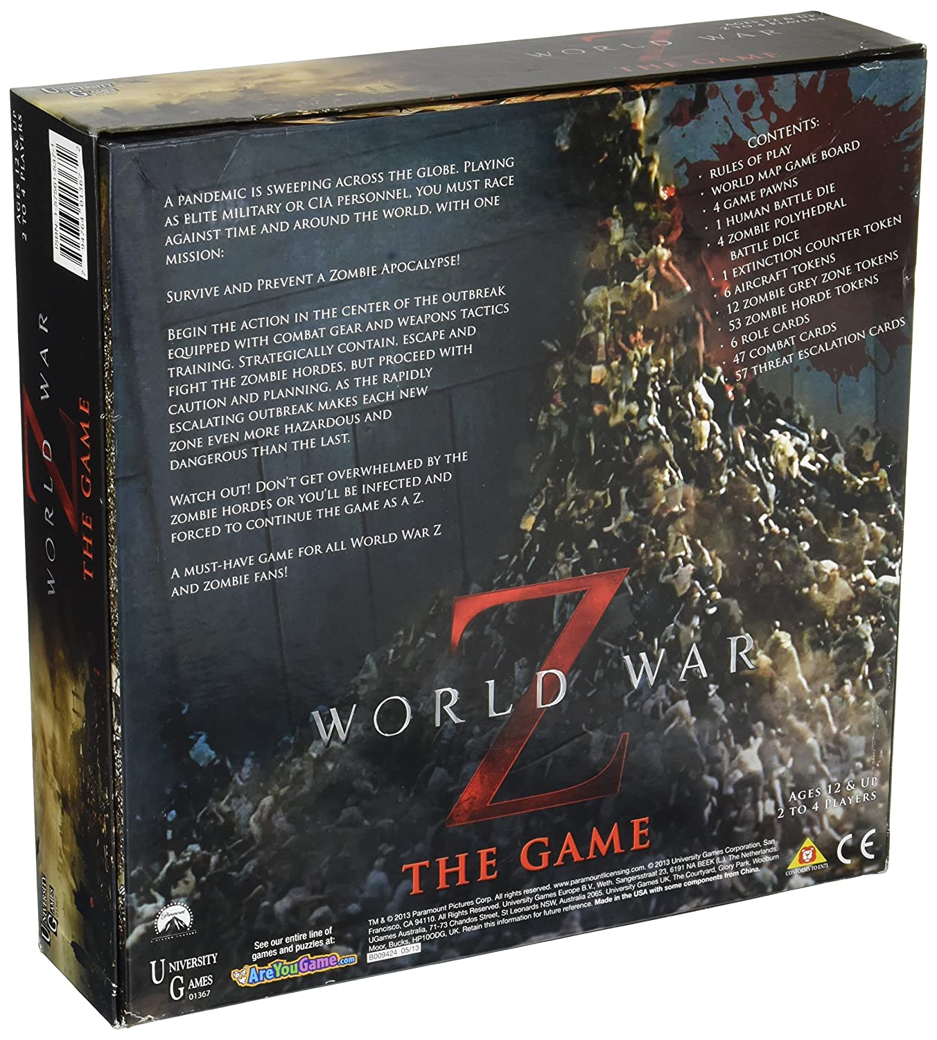 World war z board game by university games amazon juguetes y juegos gumiabroncs Choice Image