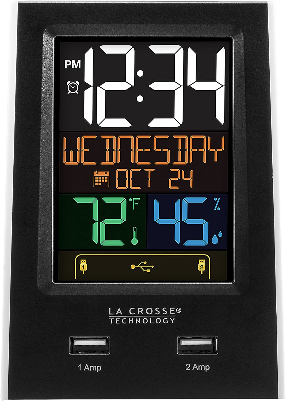 La Crosse Technology C86224 Dual USB Charging Alarm with nap Timer