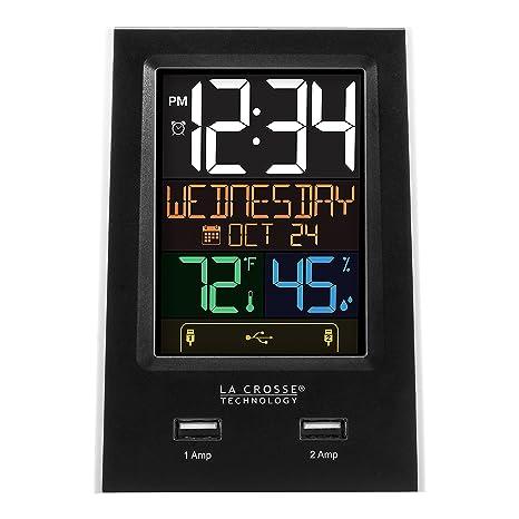 Amazon.com: La Crosse Technology C86224 Dual USB Charging ...