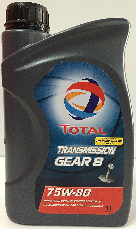 Total - Olio per trasmissioni, Transmission Gear 8 75W80, 1 L