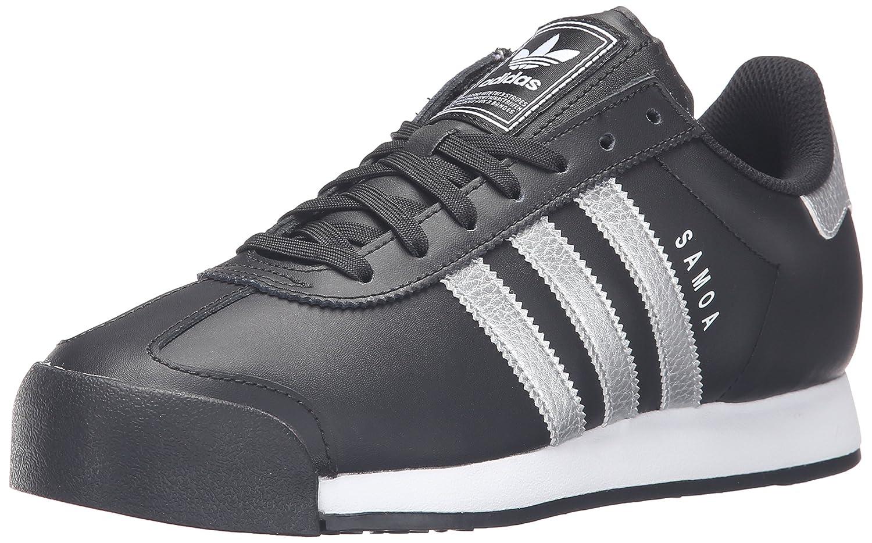 adidas Originals Men's Samoa Retro Sneaker B01G25V5VE 10.5 D(M) US|Black/Metallic Silver/White