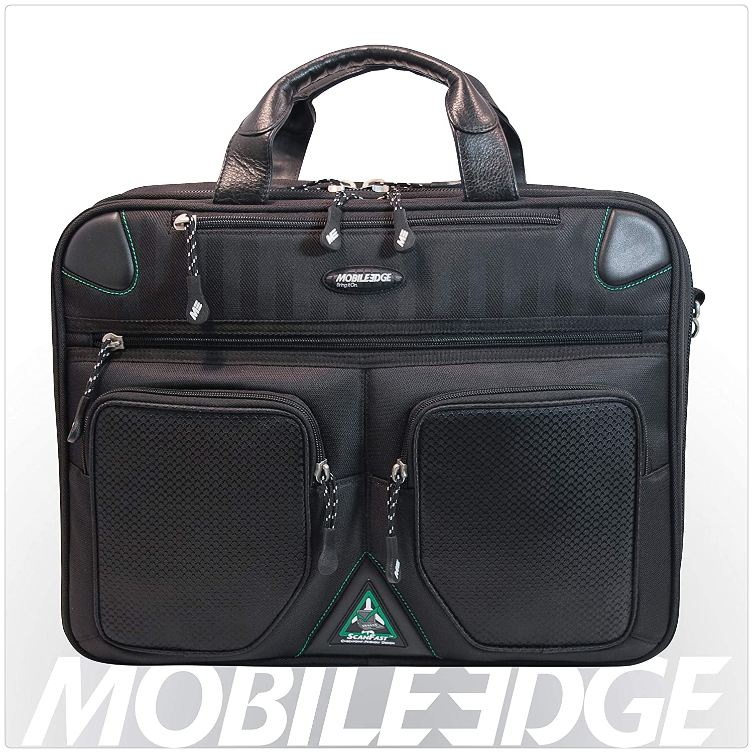 a5cc84ea11c2 Mobile Edge ScanFast Checkpoint and Eco Friendly Laptop Briefcase 16 Inch  PC, 17 Inch Mac for Men, Women, Business Travel, Student, Black MESFBC2.0