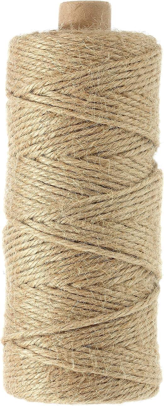 100 M 2 mm Cuerda de Yute Natural para jardín, Cuerda de para Manualidades, Embalaje de Regalo: Amazon.es: Jardín