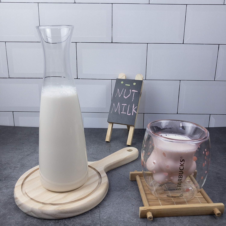3 Pack - Nut Milk Bag-12x12 Inches - iAesthete Reusable Food Grade Nylon Mesh Filter Multiple Usage Vegetable Fruit Juice Filter Cold Brew Coffee Filter Yogurt Maker