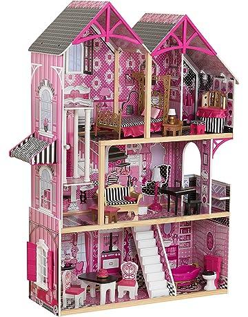 b62f110315c117 KidKraft 65944 Maison de poupées en bois Bella incluant accessoires et  mobilier, 3 étages de