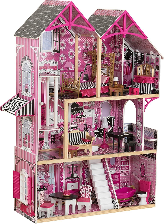 Kidkraft Amelia Dollhouse Maison en bois avec ascenseur pour barbie de poupées