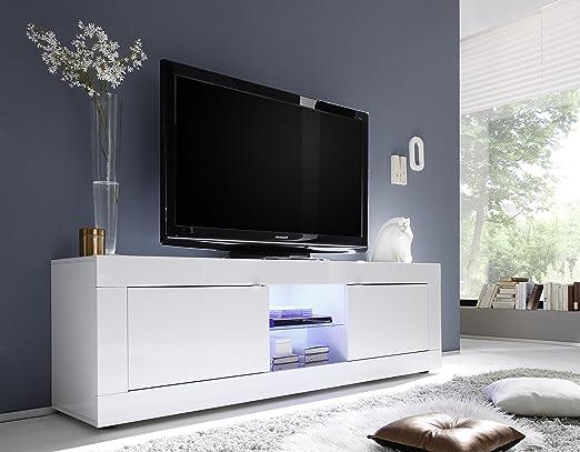 Tv Schrank Basic 2 Turig 181 X 56 X 43 Cm Weiss Hochglanz Amazon