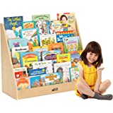 "ECR4Kids Birch Plywood Single-Sided Book Display, 15""H, Natural"
