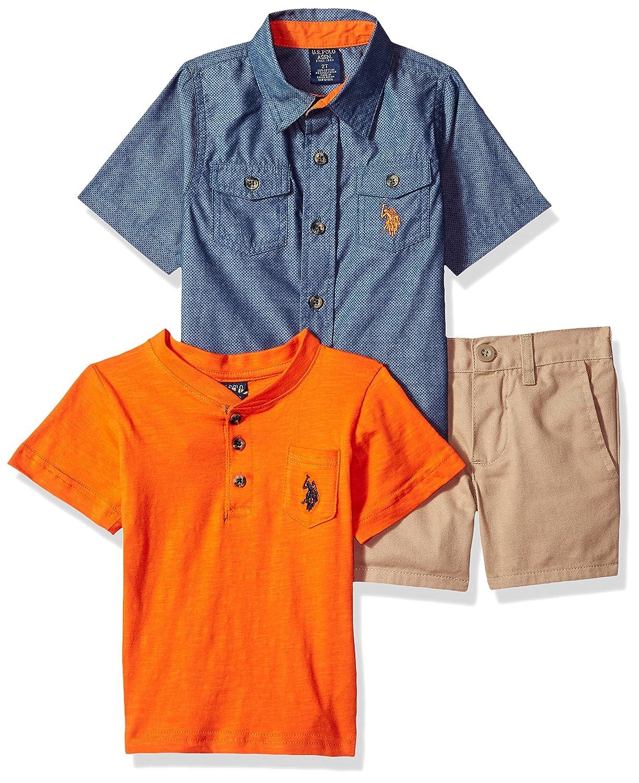 T-Shirt and Short Set U.S Boys Sleeve Polo Assn