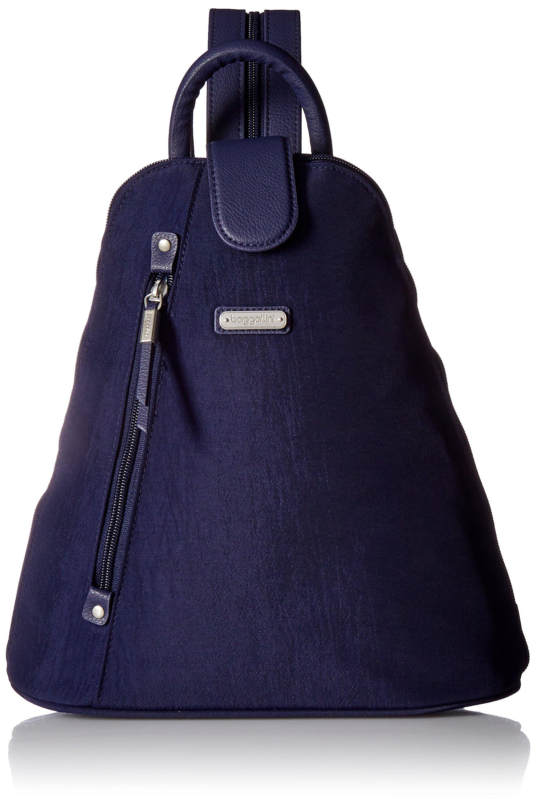 Baggallini Metro Backpack with RFID Phone Wristlet, navy