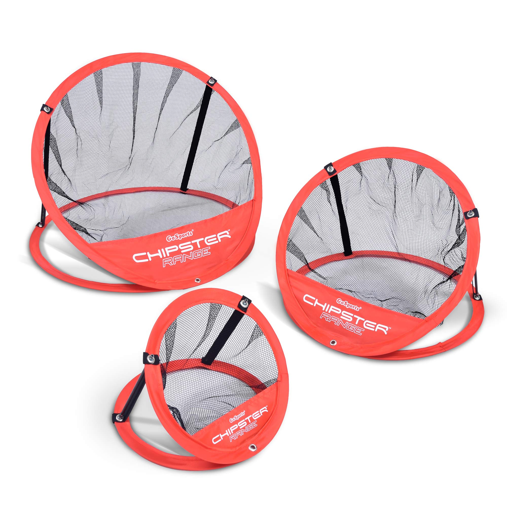 GoSports CHIPSTER Range - 3 Piece Golf Chipping Practice Net Target System with Carrying Case by GoSports