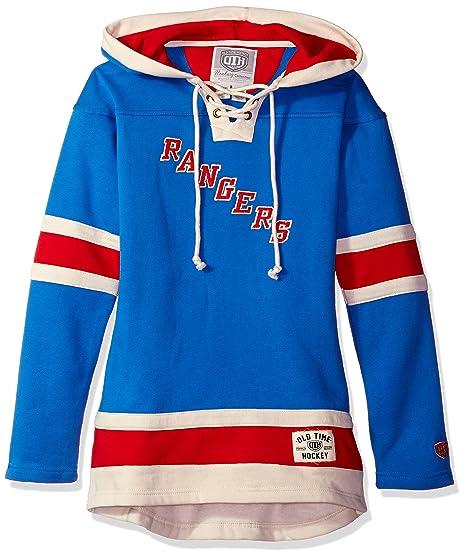 031b24b71 Old Time Hockey NHL New York Rangers Women's Heavyweight Hoodie, Small,  Royal