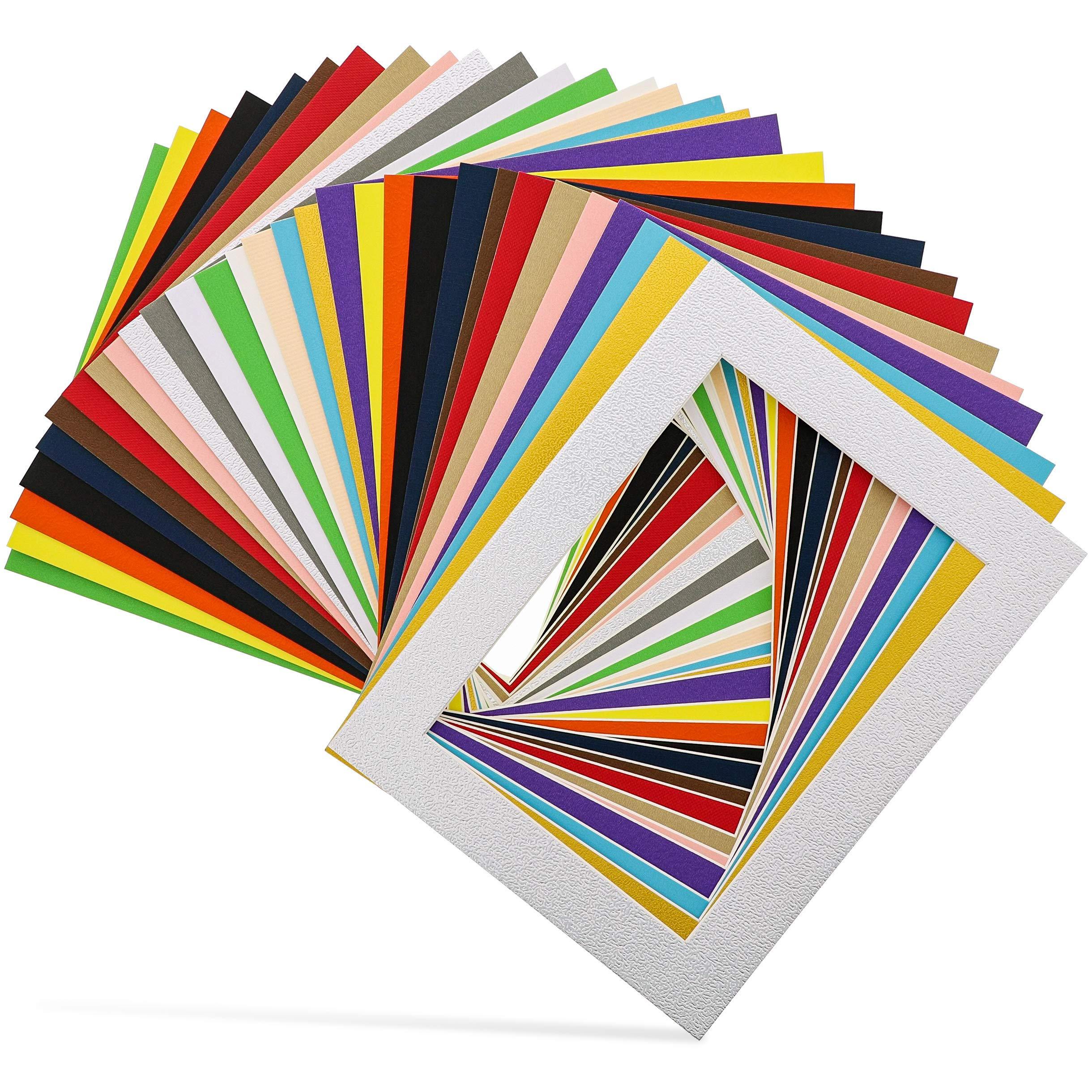 Bright Creations 30-Pack 6.5 x 8.5 Inch Picture Matted Frame Boards for 5x7 Photos, Assorted Colors by Bright Creations