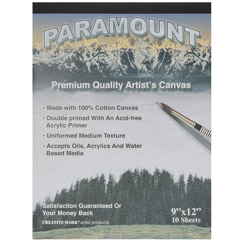 Paramount Artist Double Primed 100/% Cotton Canvas Pad Single Pad 10 Canvas Sheets - 16 x 20