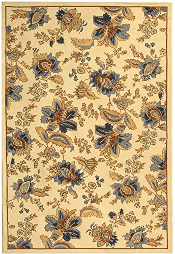 Safavieh Chelsea Collection HK309A Hand-Hooked Ivory Premium Wool Area Rug 8'9″ x 11'9″
