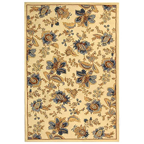 Safavieh Chelsea Collection HK309A Hand-Hooked Ivory Premium Wool Area Rug 6 x 9