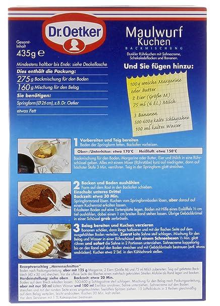 Dr Oetker Maulwurf Kuchen 435g Trend Back Ideen Amazon De