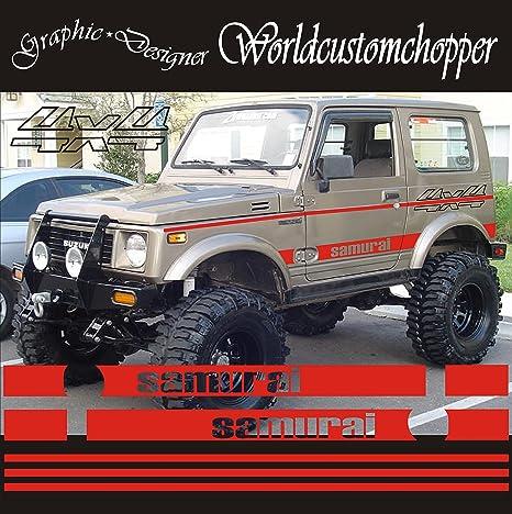 Kit Adesivi Stickers Fuoristrada Suzuki 4x4 Samurai Santana Off Road