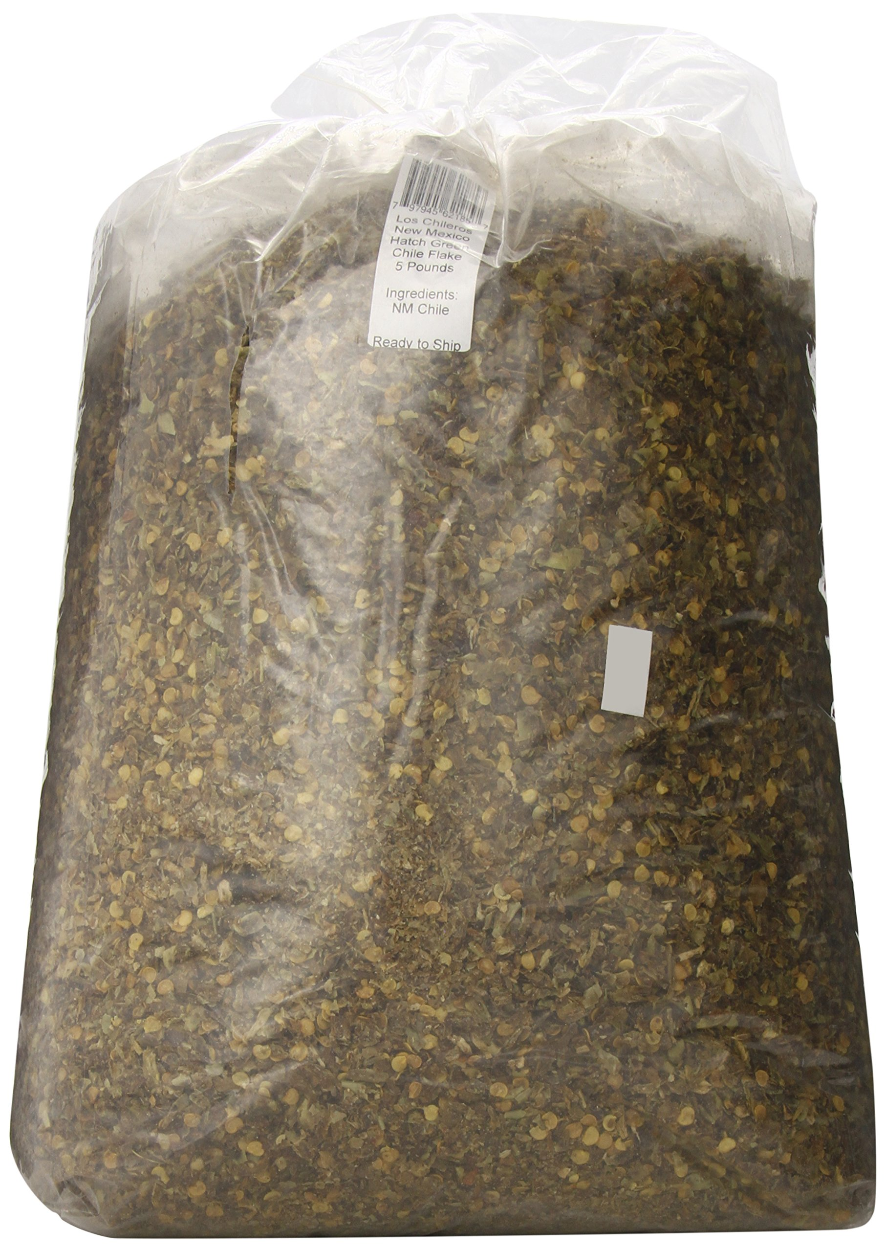 Los Chileros New Mexico Hatch Green Chile, Flake, 5 Pound