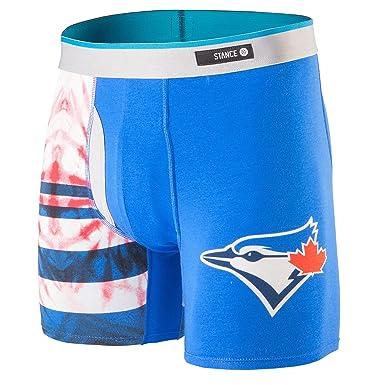 7a3924a8e3e Amazon.com  Stance Men s Tie-Dye Blue Jays Blue Boxer Briefs LG ...