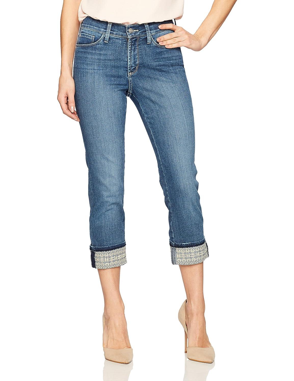 Heyburnembroidered NYDJ Womens Dayla Wide Cuff Capri Jeans Jeans