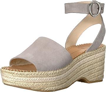 2bb33c21ef5b Amazon.com  Dolce Vita Women s Lesly Wedge Sandal onyx suede 6 M US  Shoes