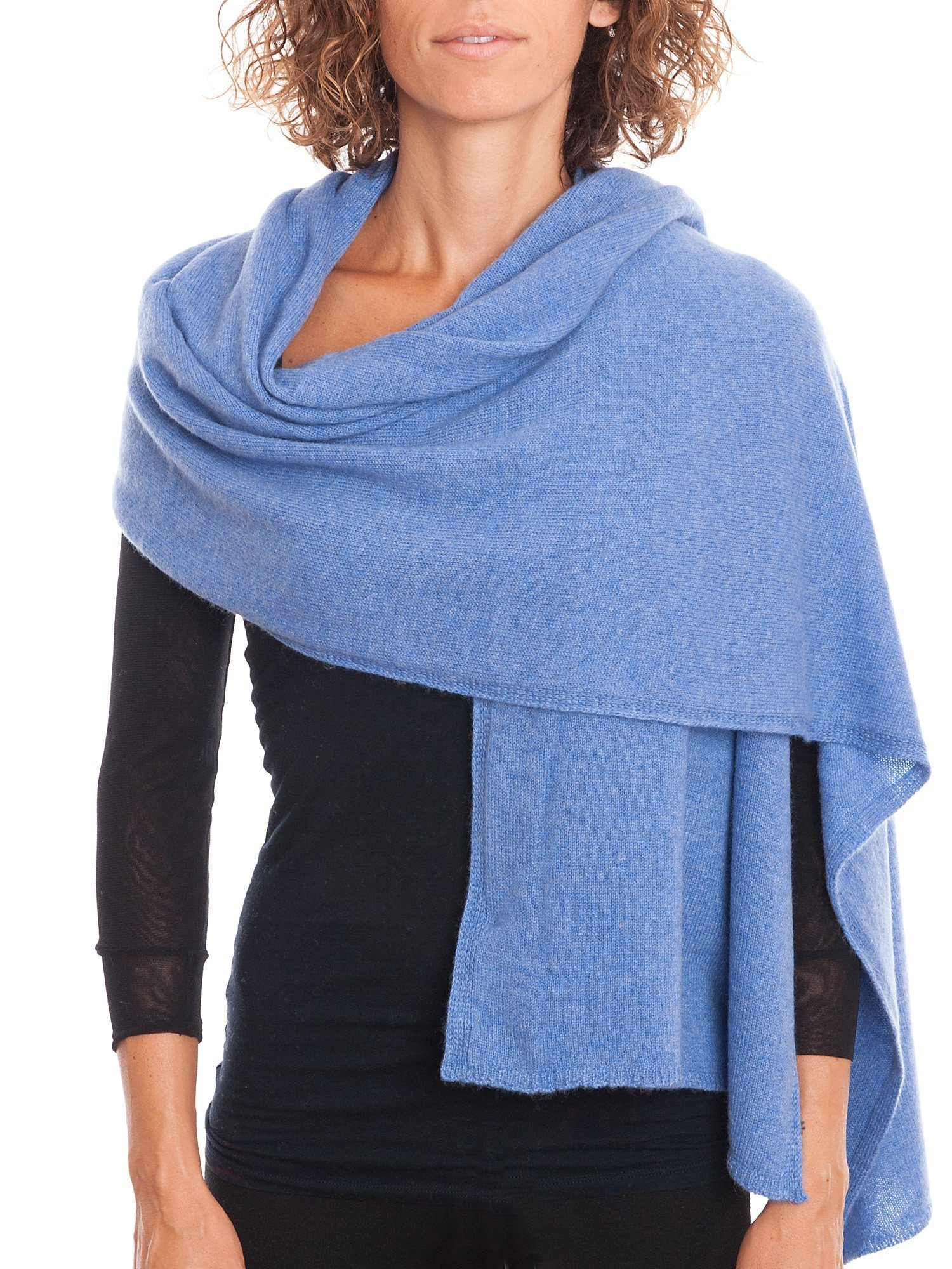 Dalle Piane Cashmere - Stole 100% cashmere - Made in Italy, Color: Light blue, One size