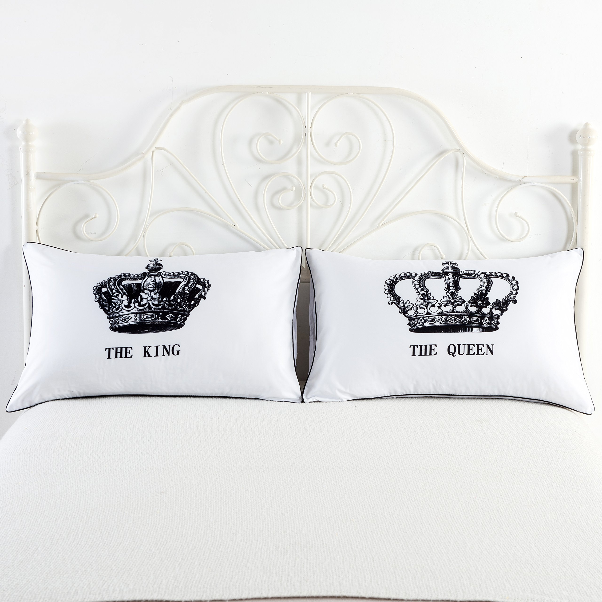 anniversary cases in decorative wedding and king pillowcases cushion from home pillow bedroom item gifts cover his couples queen hers