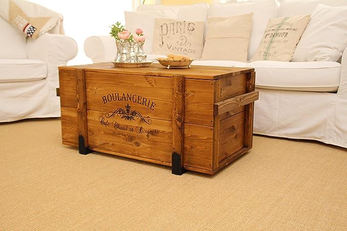 Caja de madera shabby chic Mercancías Caja Vintage baúl Caja de ...