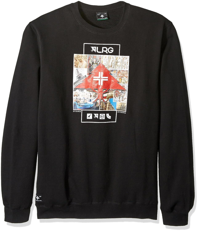 LRG Mens Striped Crewneck Sweater Sweatshirt
