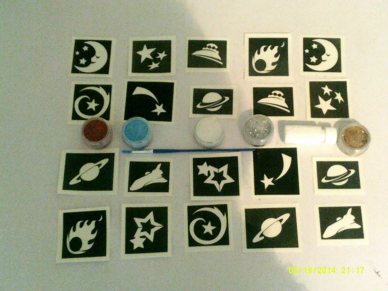 Espacio temático Conjunto Tatuaje Purpurina Incluyendo 30 ...