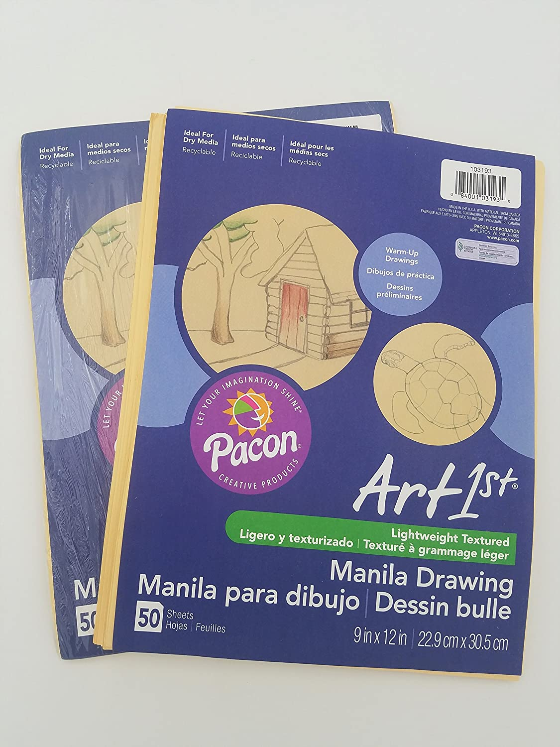 Painting, Drawing & Art Supplies 2 Pack Pacon Artist Drawing Paper ...