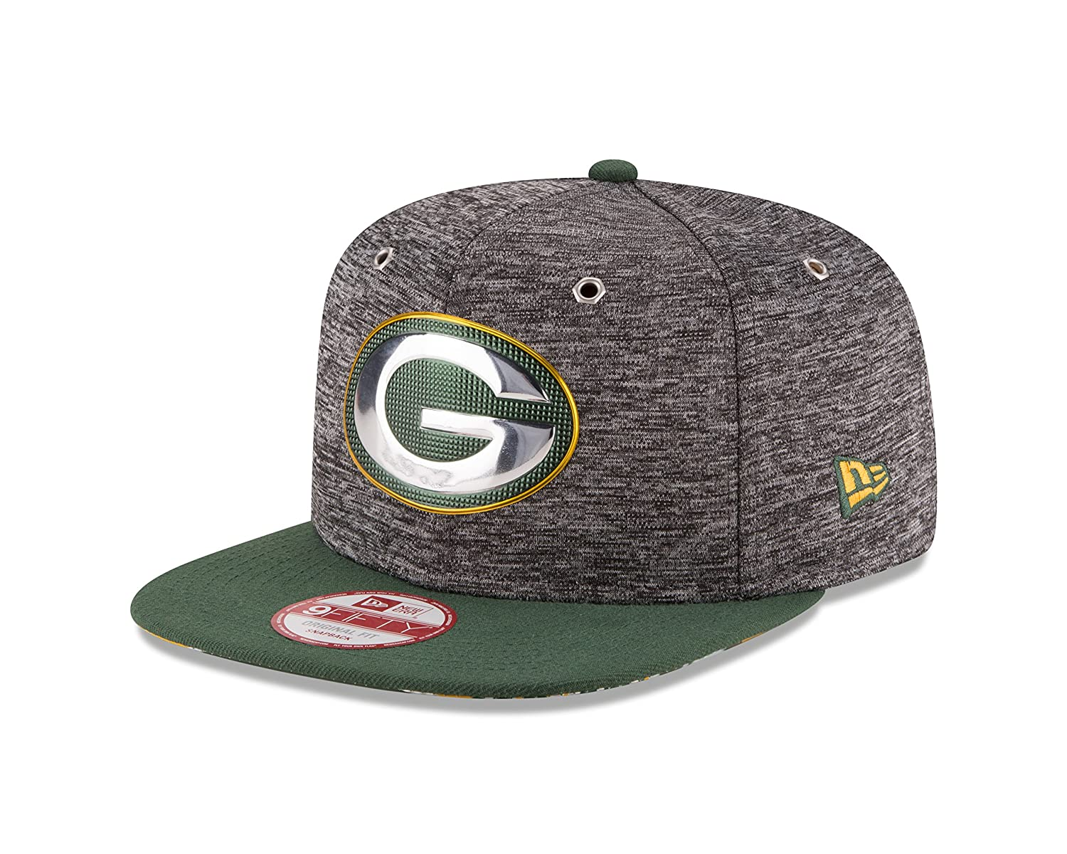 save off 0b03b 57104 Amazon.com   NFL Green Bay Packers 2016 Draft 9Fifty Snapback Cap, One  Size, Heather Gray   Sports   Outdoors