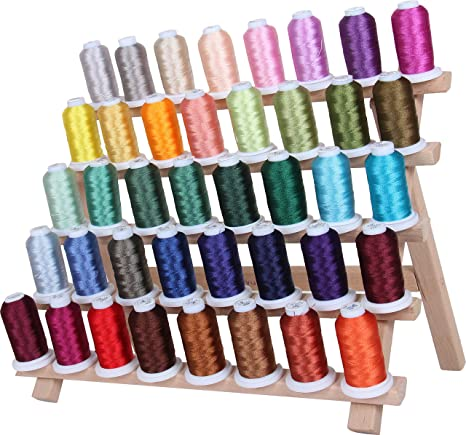 Lot of 60 Spools Polyester Embroidery Machine Thread 40WT .. Grab a Bag!!!!